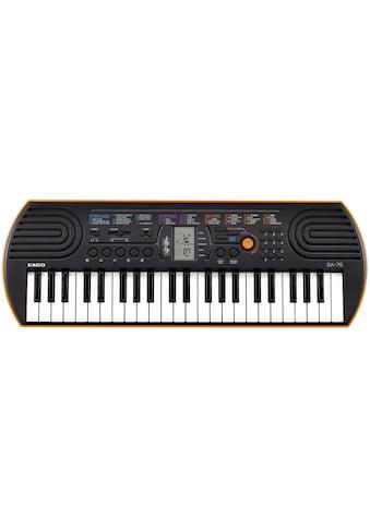 CASIO Keyboard »Mini-Keyboard, SA-76«, mit 44 Minitasten kaufen