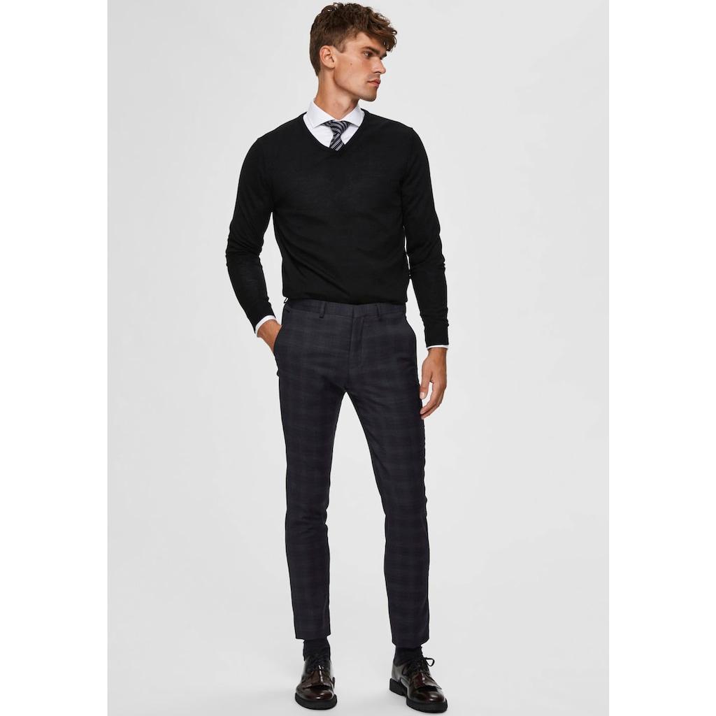 SELECTED HOMME V-Ausschnitt-Pullover »TOWER NEW MERINO V-NECK«