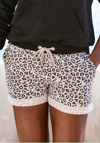 LASCANA Shorts, mit Rippbündchen und Umschlagsaum kaufen