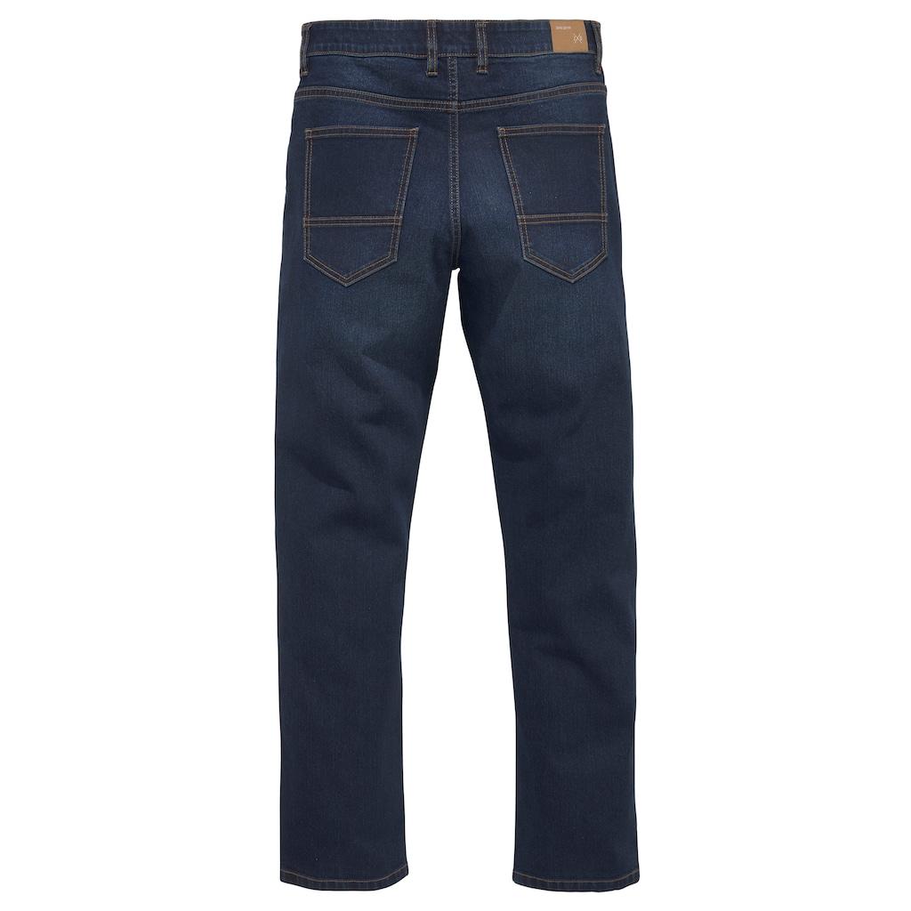 John Devin Straight-Jeans, mit leichter Waschung