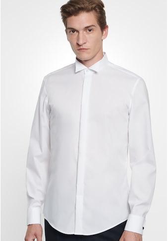 seidensticker Smokinghemd »Slim«, Slim Langarm Kläppchenkragen Uni kaufen