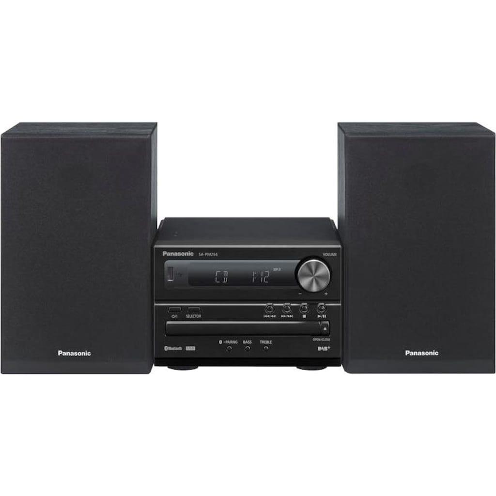 Panasonic Microanlage »SC-PM254EG«, (Bluetooth Digitalradio (DAB+)-FM-Tuner mit RDS 20 W)