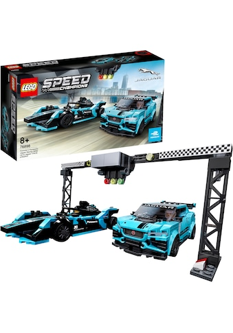 LEGO® Konstruktionsspielsteine »Formula E Panasonic Jaguar Racing GEN2 car & Jaguar I-PACE eTROPHY (76898), LEGO® Speed Champions«, (565 St.), Made in Europe kaufen