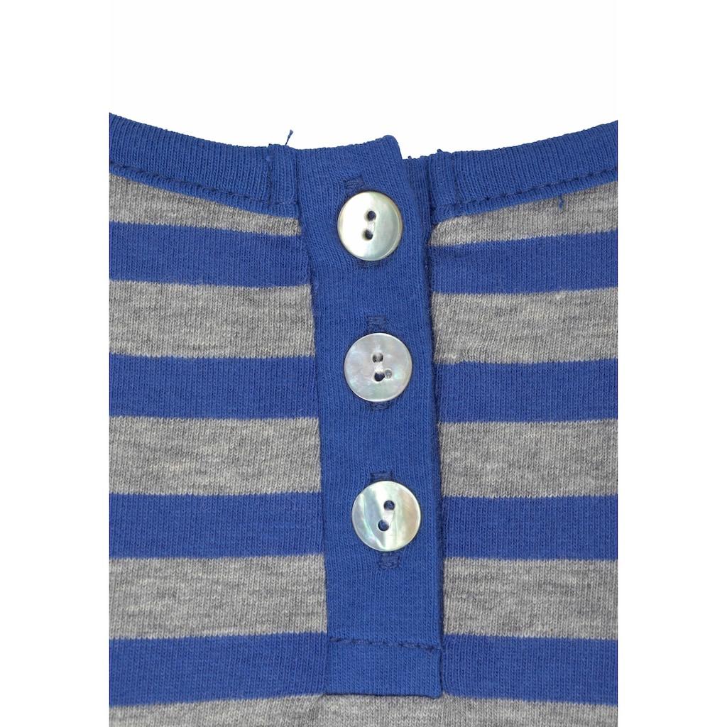 Buffalo Nachthemd, im Ringel Look mit Knopfleiste