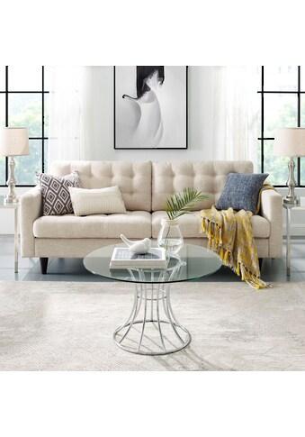 Leonique Couchtisch »Danice«, mit runder Tischplatte in modernem Design kaufen