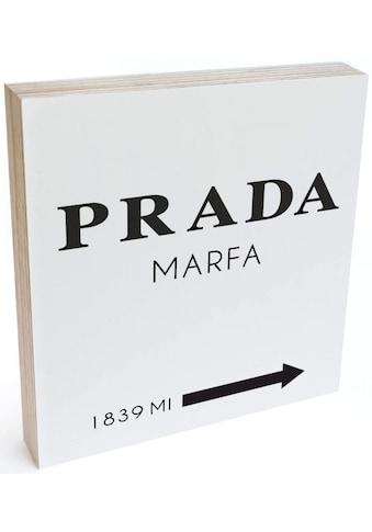 Wall-Art Holzbild »Tischdeko Prada Marfa Holzbild«, (1 St.) kaufen