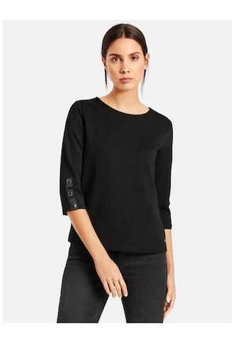 Taifun T - Shirt 3/4 Arm Rundhals »3/4 Arm Shirt aus Struktur - Jersey« kaufen