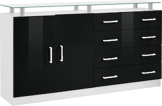 borchardt m bel sideboard finn breite 152 cm mit glasablage g nstig online shoppen jelmoli. Black Bedroom Furniture Sets. Home Design Ideas