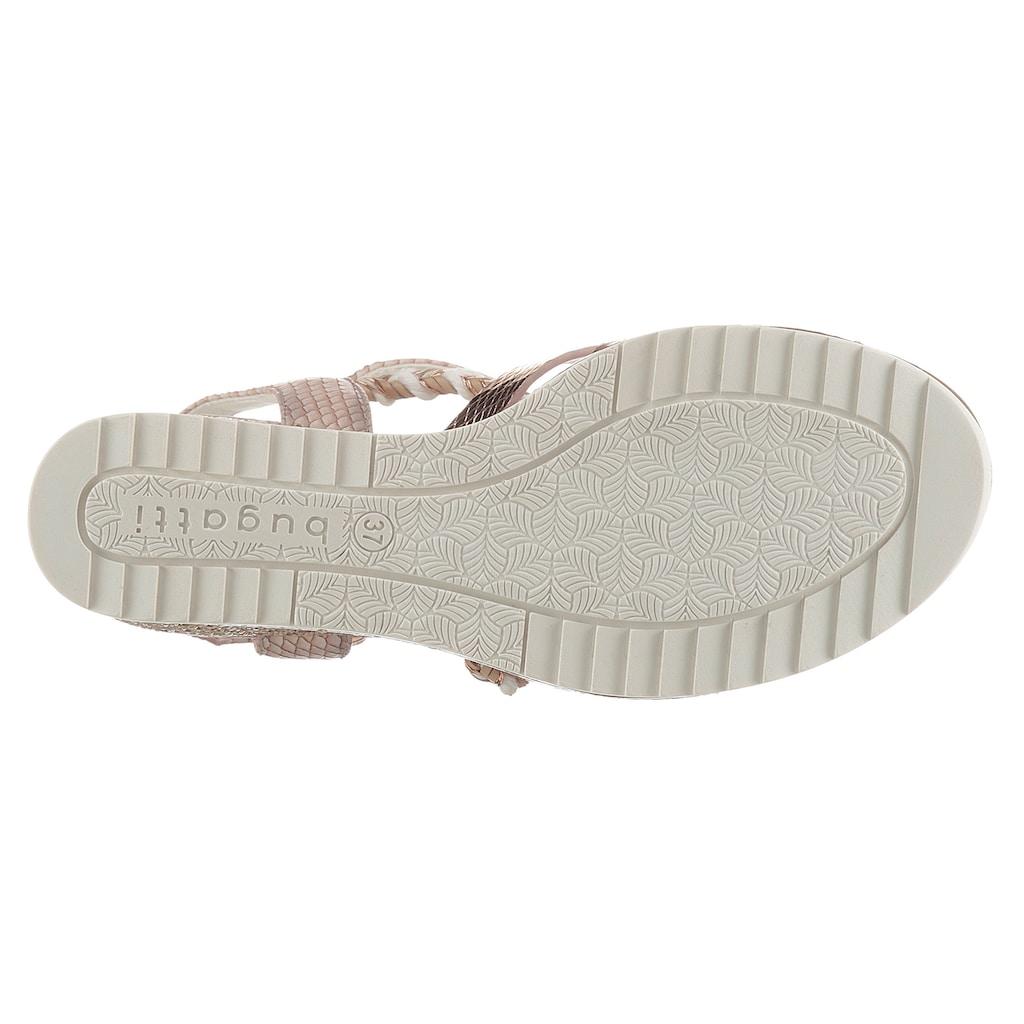 bugatti Sandalette »ESRA EVO«, mit angesagter Reptilienprägung