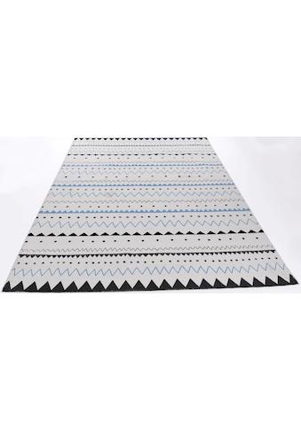 Teppich, »Tuxedo«, THEKO, rechteckig, Höhe 5 mm, handgewebt kaufen