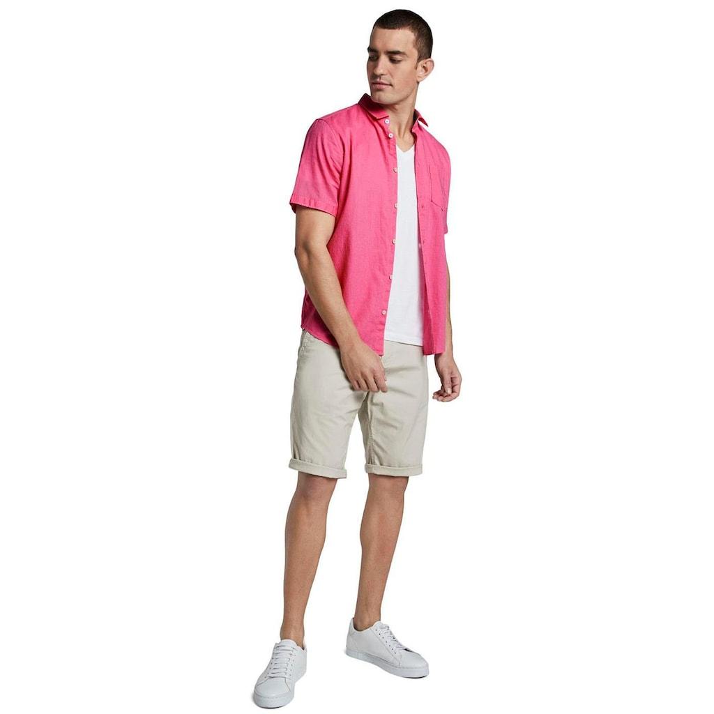 TOM TAILOR Leinenhemd, mit Brusttasche