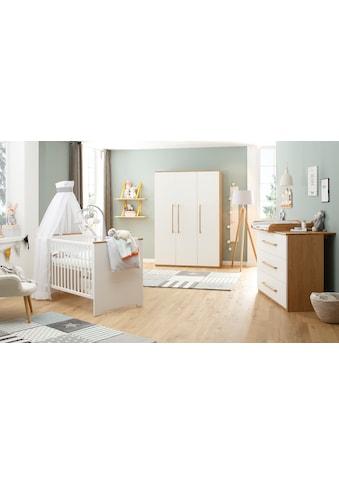 Lüttenhütt Baby Babyzimmer-Komplettset »Lauris, weiss/eiche«, (Set, 3 St.), FSC®-Holz... kaufen