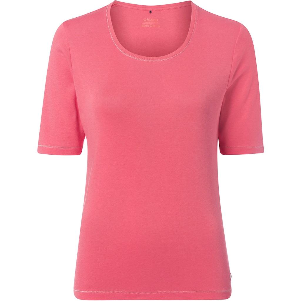 Olsen T-Shirt, nachhaltig, mit Halbarm