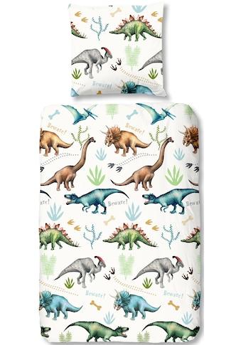 good morning Kinderbettwäsche »Dino«, mit Dinos kaufen