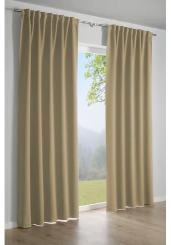 GARDINIA Gardine »Schal mit Gardinenband Dimout«, Vorhang kaufen