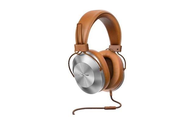 Ohrumschließender Braun Leder Kopfhörer