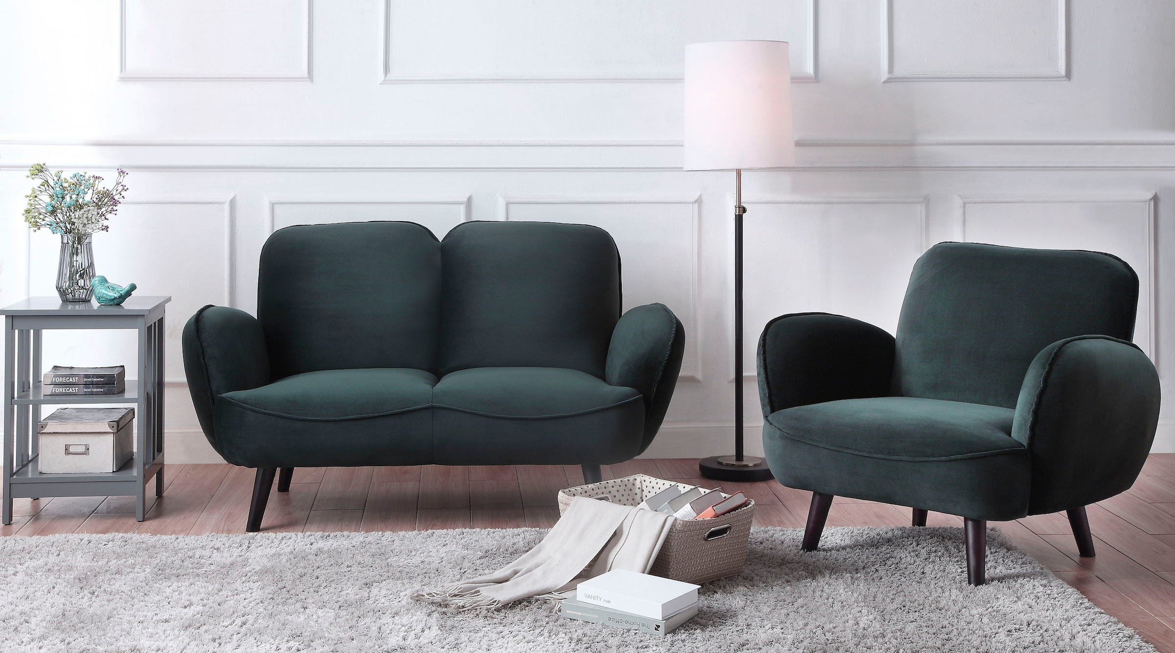 Image of ATLANTIC home collection 2-Sitzer, mit Wellenunterfederung