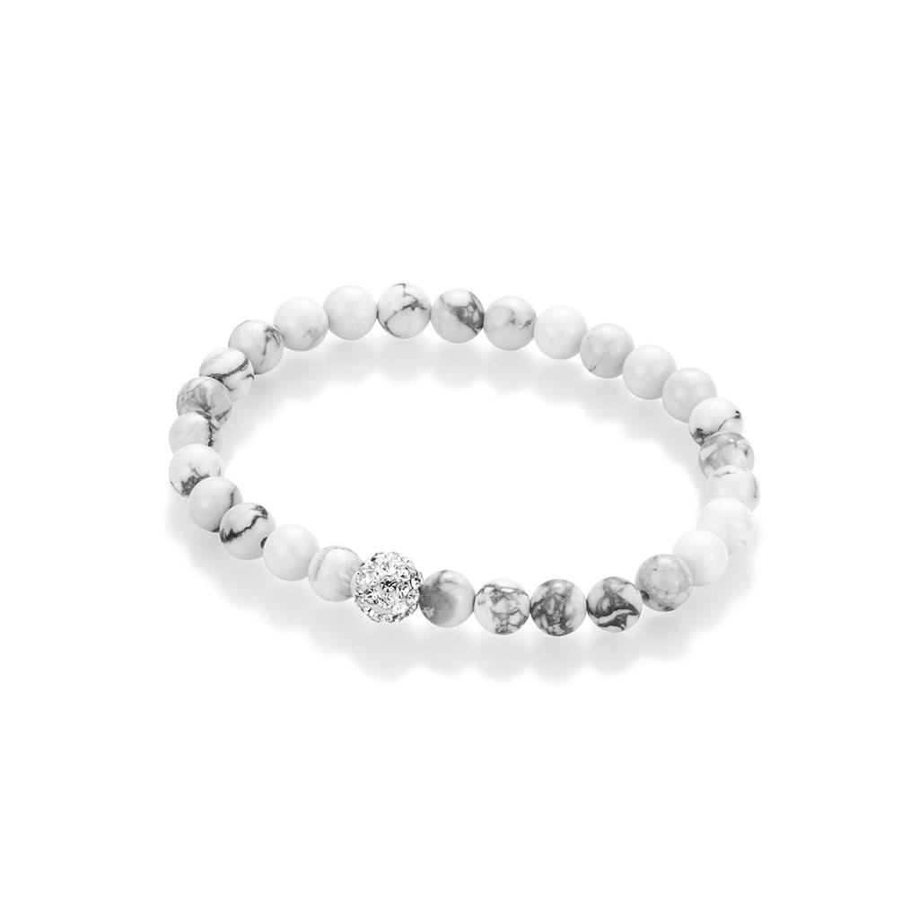Firetti Armband »Mineralstein-Kugeln«, mit Kristallsteinen und Howlith