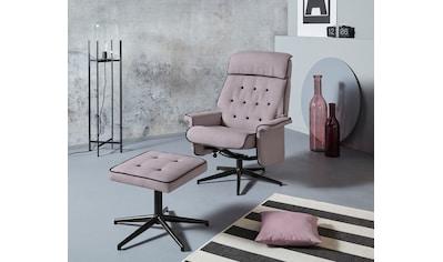 INOSIGN Relaxsessel »Newton«, mit Hocker aus schönem Webstoff, in zwei verschiedenen... kaufen