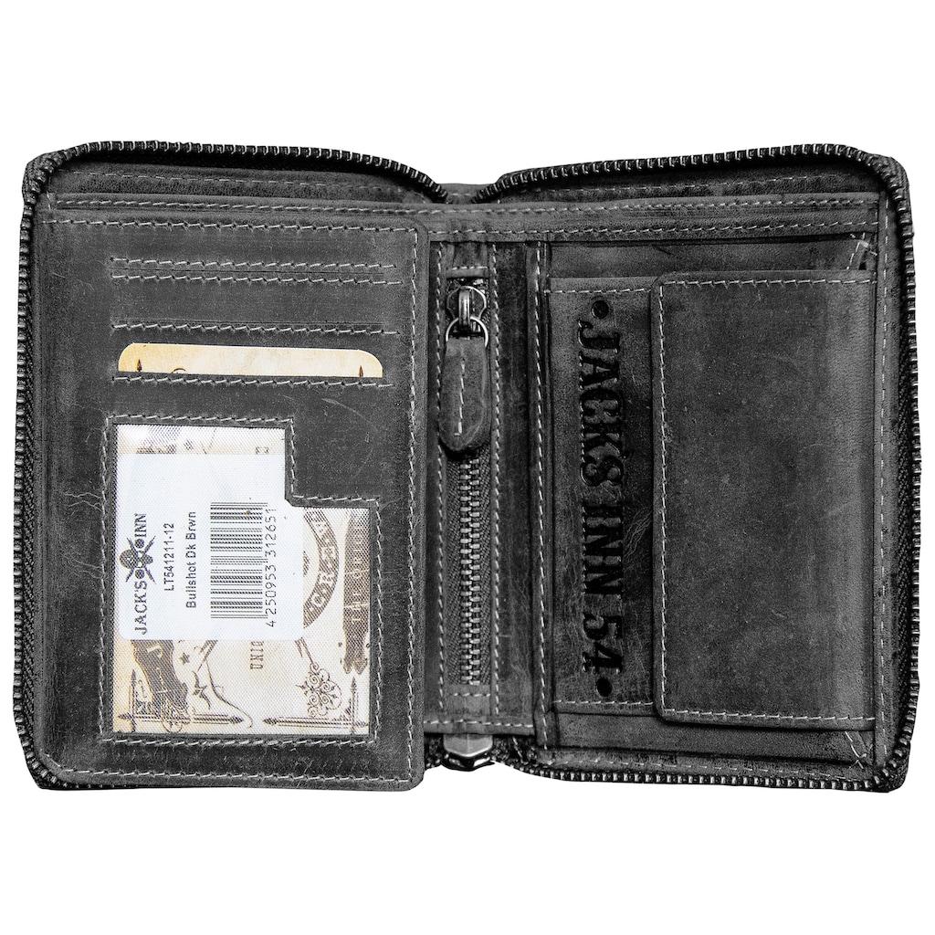 JACK'S INN 54 Geldbörse »Bullshot«, aus hochwertigem Lerder in echter Handarbeit hergestellt