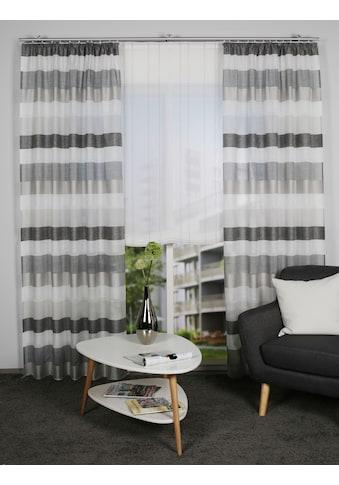 HOME WOHNIDEEN Gardine »OLAV«, Fertigschal- Querstreifen kaufen