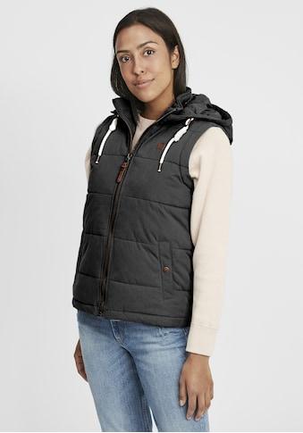 OXMO Steppweste »Lew«, Weste mit abnehmbarer Kapuze kaufen