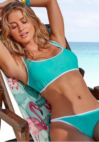 Venice Beach Bustier-Bikini-Top »L.A.«, mit Kontrastpiping kaufen