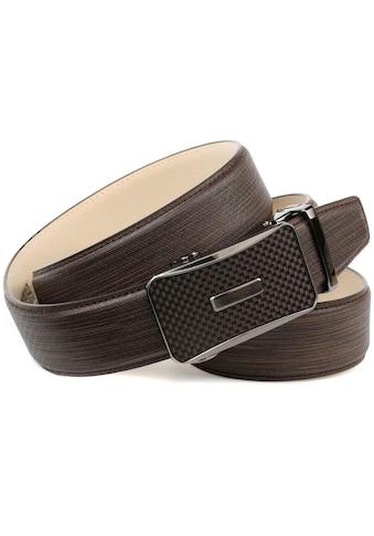 Anthoni Crown Ledergürtel, Handgenäht mit farbiger Karbon-Schliesse kaufen