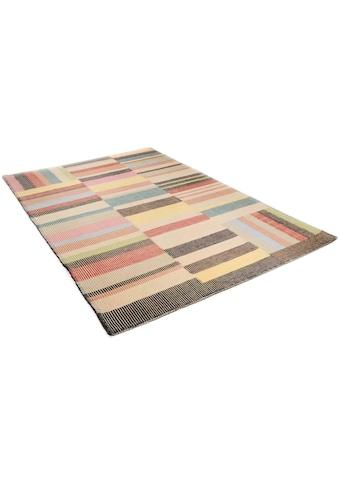 Wollteppich, »Patch«, TOM TAILOR, rechteckig, Höhe 6 mm kaufen