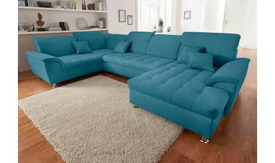 DOMO collection Wohnlandschaft, wahlweise mit Bettfunktion, Bettkasten und... kaufen