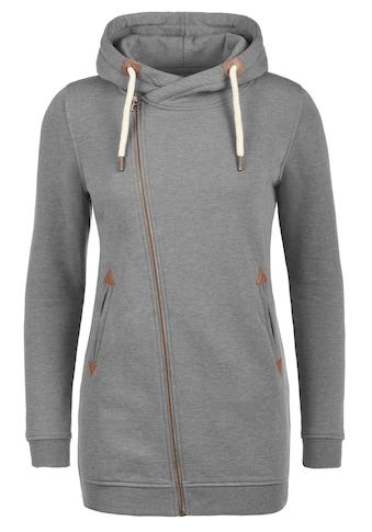 DESIRES Kapuzensweatjacke »Vicky Zip Hood Long«, Sweatshirtjacke mit asymmetrischen... kaufen
