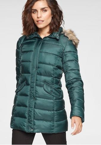 Tamaris Winterjacke, mit abnehmbarer Kunstfellkapuze kaufen