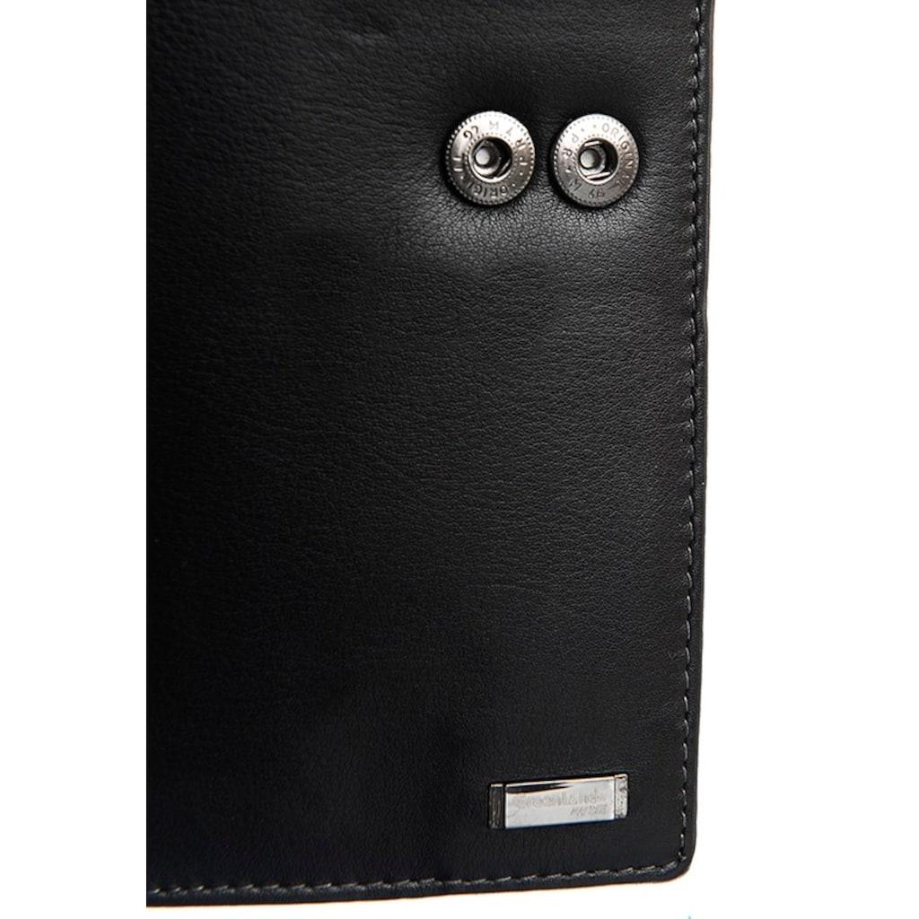 GreenLand Nature Geldbörse »Black Nappa«, mit RFID-Schutz