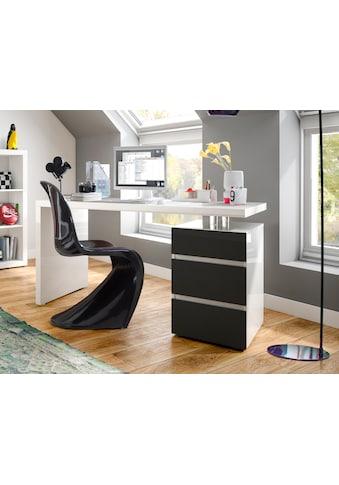 HMW Collection Schreibtisch »Barna«, mit Container und griffloser Optik kaufen