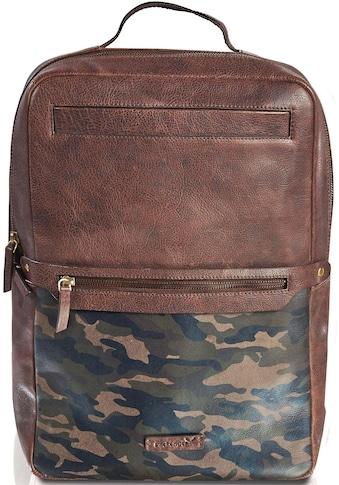 Packenger Laptoprucksack »Urban Dallas, Camouflage mit Powerbank und USB-Schleuse« kaufen