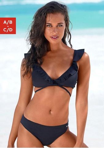 s.Oliver Triangel-Bikini, Rüschen am Top kaufen