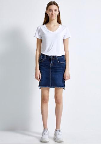 LTB Jeansrock »MIRAH«, mit offener Kante und leichter Waschung für einen coolen Look kaufen