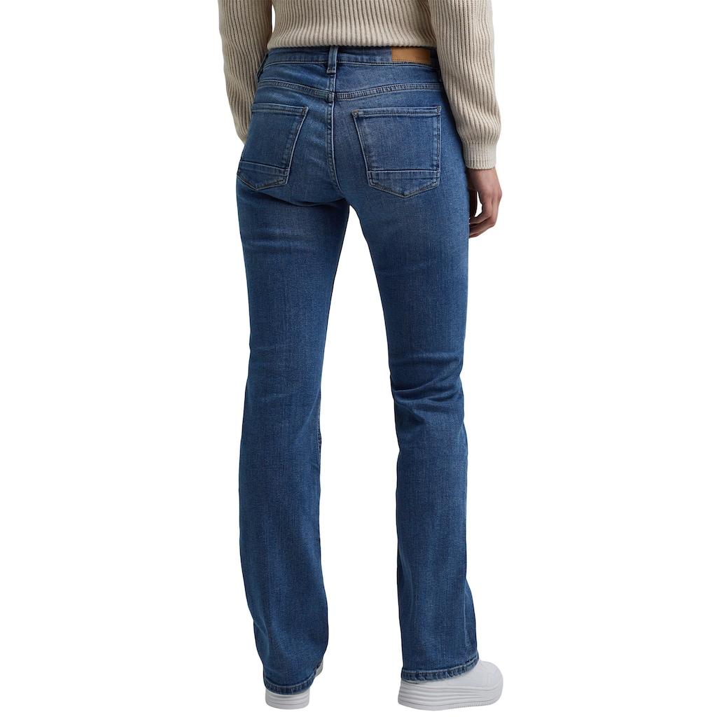 Esprit Bootcut-Jeans, aus Stretch-Denim mit leichten Washed- und Used Effekten
