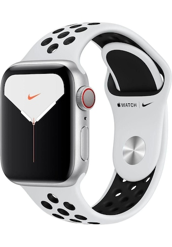 Watch Nike+ Series 5 GPS + Cellular, Aluminium silberfarben, 44 mm mit Nike Sportarmband, Apple kaufen
