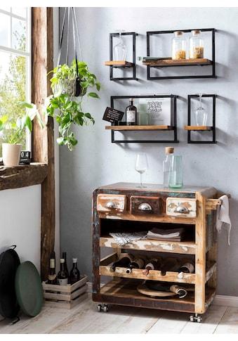 SIT Küchenwagen »Fridge«, aus recyceltem Altholz, Shabby Chic, Vintage kaufen