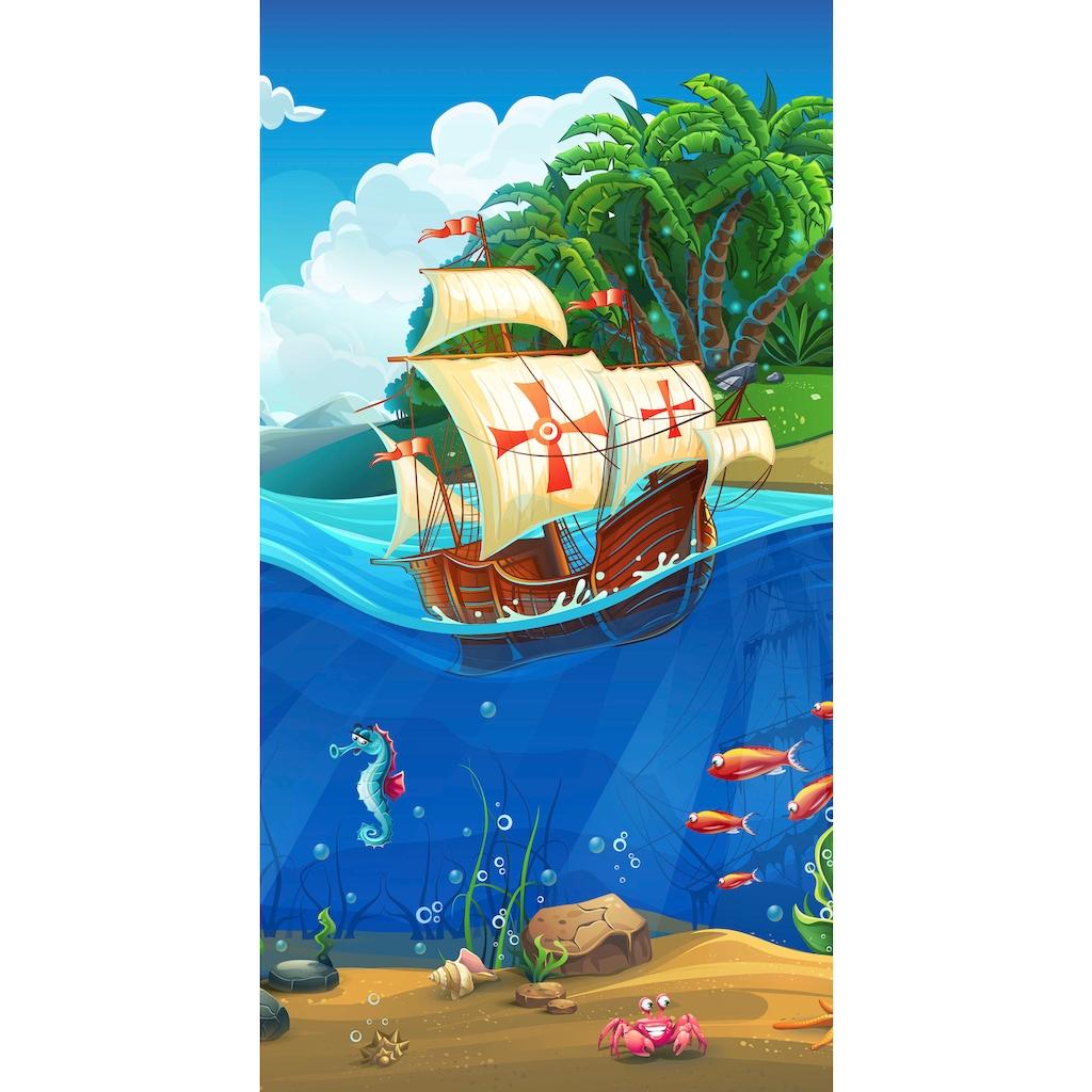 good morning Strandtuch »Captain«, (1 St.), mit Piratenschiff