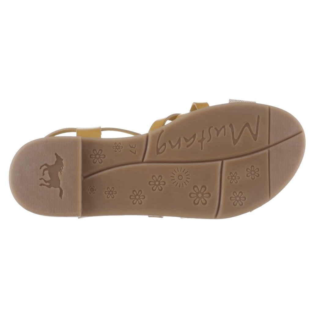 Mustang Shoes Sandale, mit Metallic-Riemchen