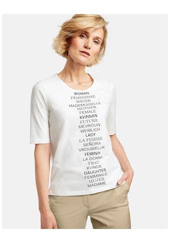 GERRY WEBER T - Shirt 1/2 Arm »1/2 Arm Shirt mit Schriftzug« kaufen