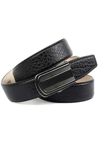 Anthoni Crown Ledergürtel, Schicker Herrengürtel mit eleganter Schliesse und markanter... kaufen