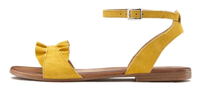 modische gelbe Sandalen