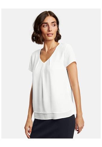 Taifun T - Shirt Kurzarm Rundhals »Blusenshirt mit kurzem Arm« kaufen