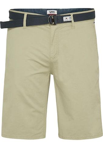 Tommy Jeans Chinoshorts »TJM VINTAGE WASH SHORT«, (Set, 2 tlg., mit abnehmbarem Gürtel) kaufen