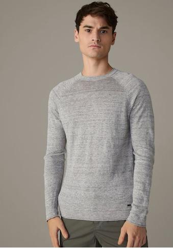 Strellson Rundhalspullover »Lance«, in reiner Leinenqualität kaufen