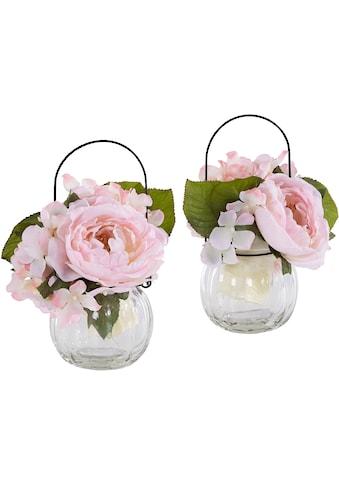Kunstpflanze »Rosen im Glas« (Set, 2 Stück) kaufen