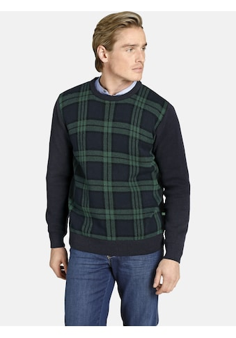 Charles Colby Rundhalspullover »EARL ARTFUL«, warmer Karopullover kaufen